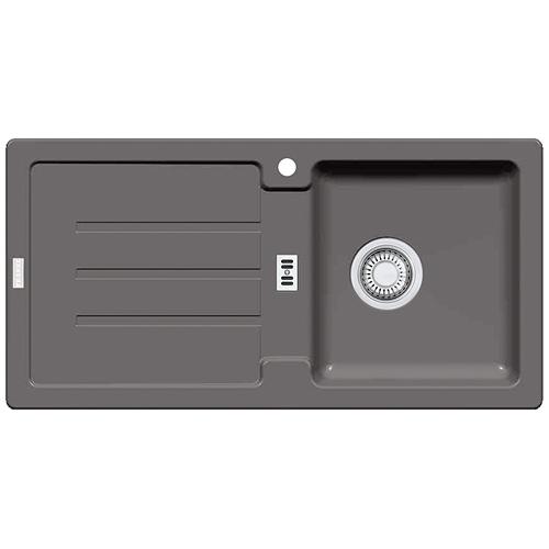 franke vier strata stg 614 gris pierre avec bouchon d. Black Bedroom Furniture Sets. Home Design Ideas
