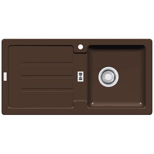 franke sp le strata stg 614 chocolate mit stopfenventil ausschnittsma 840 x ebay. Black Bedroom Furniture Sets. Home Design Ideas