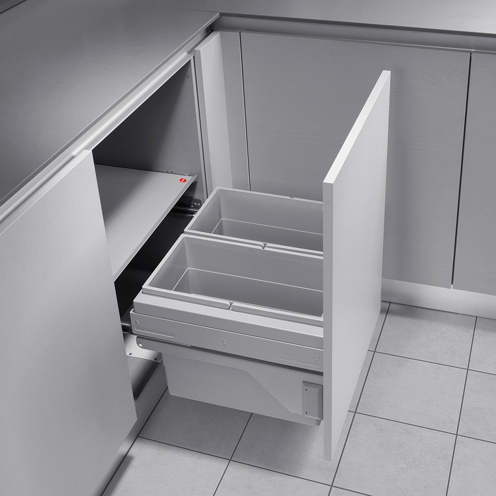 56 l abfallsystem hailo cargo soft slide 60 2 56 big 2 fach m lltrennsystem f ebay. Black Bedroom Furniture Sets. Home Design Ideas