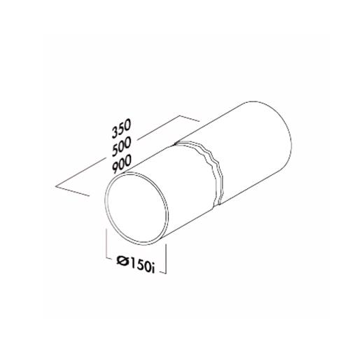 rundrohr 150 ohne muffe 500 mm lang rohr lose abluftrohr rund compair flow ebay. Black Bedroom Furniture Sets. Home Design Ideas
