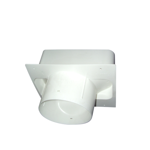 anschlussstutzen f r maueranschluss von rund auf eckig compair flow system. Black Bedroom Furniture Sets. Home Design Ideas