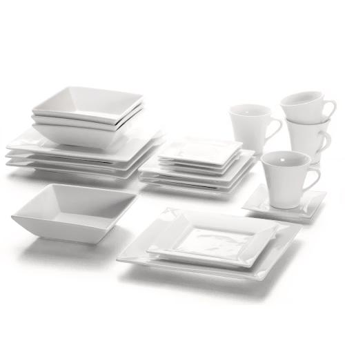 geschirr set square 20 teilig maxwell williams geschirr set eckig ebay. Black Bedroom Furniture Sets. Home Design Ideas