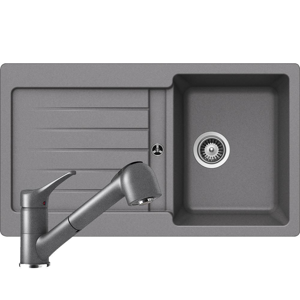sp le facile 1 in croma inkl hochdruck armatur mit schlauchbrause im set 84. Black Bedroom Furniture Sets. Home Design Ideas