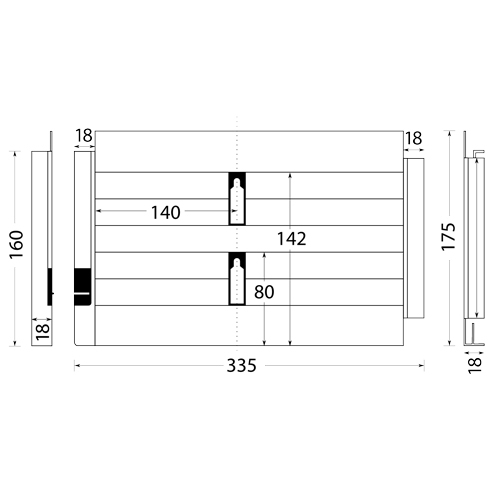 ersatz schlittenboden f r den icaro 7 allesschneider von. Black Bedroom Furniture Sets. Home Design Ideas