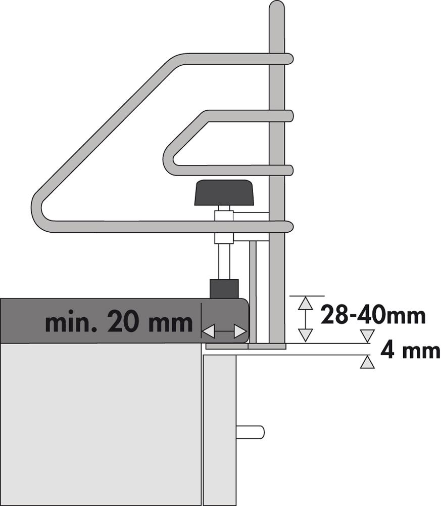 kindersicherung chrom f r 60er herd breite 680 mm kinderschutzgitter herdsch. Black Bedroom Furniture Sets. Home Design Ideas