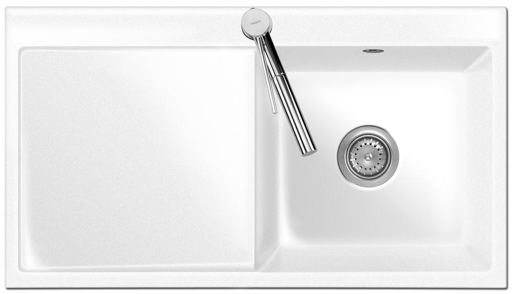 fl chenb ndige sp le mera 90 gr nland mit becken rechts und handbet tigung ebay. Black Bedroom Furniture Sets. Home Design Ideas