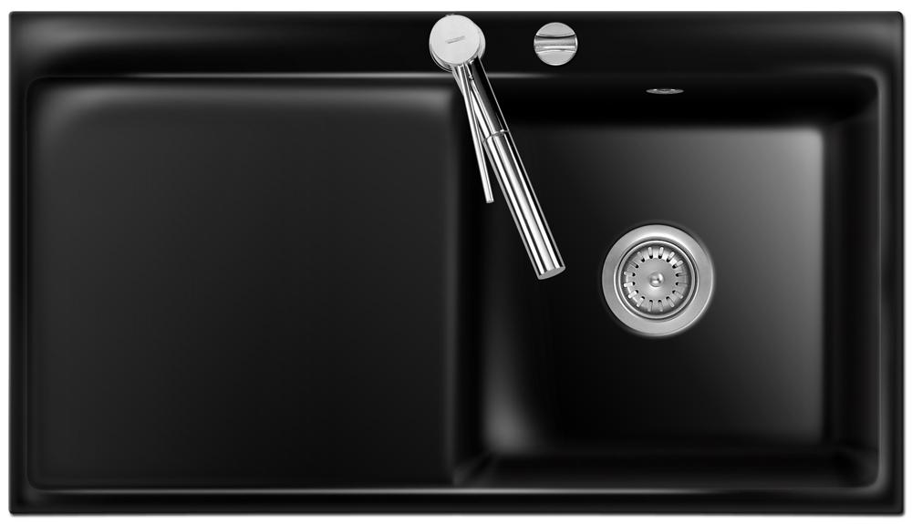 sp le keradomo mera 90 nero becken rechts mit excenterbedienung ebay. Black Bedroom Furniture Sets. Home Design Ideas