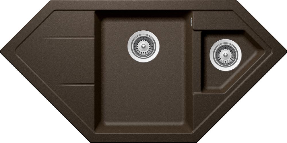 schock sp le signus c 150 in bronze mit resteschale ebay. Black Bedroom Furniture Sets. Home Design Ideas