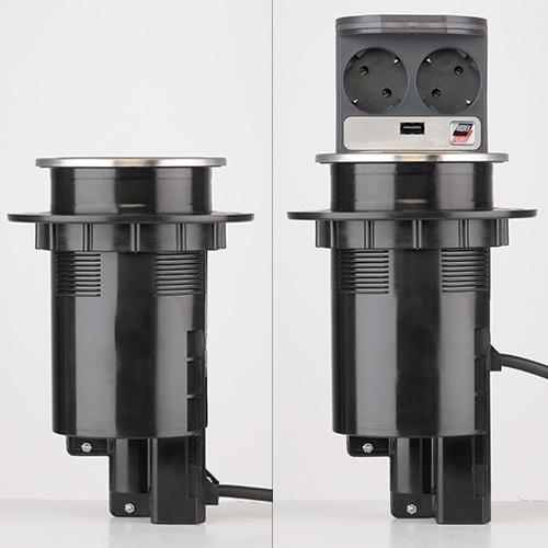 2 fach steckdose voltport stromstation mit led beleuchtung und usb anschluss ebay