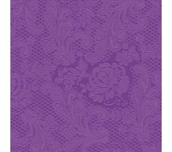 Servietten Lace embossed purple 33 x 33 cm ppd 007252