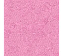Servietten Lace embossed pink 33 x 33 cm ppd 007302