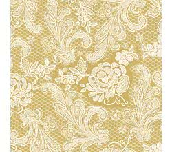 Servietten Lace Royal embossed gold white 33 x 33 cm ppd 007659