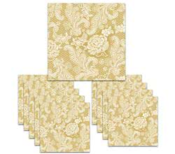 150 Servietten Lace Royal embossed gold white 33 x 33 cm ppd 007659