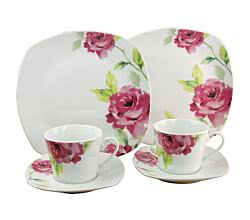 CreaTable 19708 Kaffeesservice Amelie FRENCH ROSE 18-tlg.