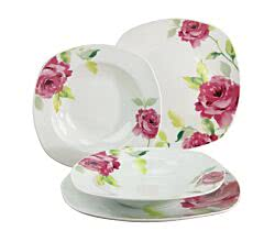 CreaTable 19709 Tafelservice Amelie FRENCH ROSE 12-tlg.