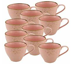 10er SET CreaTable 20083 Nature Collection Obertasse 200 ml ROSE