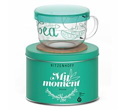 Ritzenhoff MY MOMENT Teeglas 0,45 l mit Glasdeckel Véronique Jacquart 2016