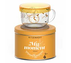 Ritzenhoff MY MOMENT Teeglas 0,45 l mit Glasdeckel Kurz Kurz Design 2016 (tea time)