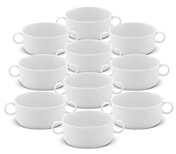 10er SET Suppen - Obertasse 250 ml stapelbar / Suppentasse / Friesland Jeverland / Suppenschale