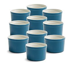 10er SET Coloured Cottage Ofenform 10 x 7 cm in Blau von Maxwell & Williams