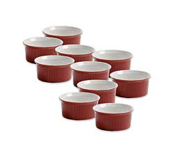 10er SET Ofenform 7,5 cm rot / Maxwell & Williams / White Basics / Coloured Cottage / Ofenförmchen / Backförmchen