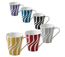 Becher Wave 250 ml ZEST / Maxwell & Williams / Bone China / Kaffeebecher / Teebecher / Pott