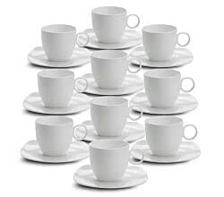 10er SET Tasse mit Untertasse 250 ml CASHMERE SQUARE von Maxwell & Williams