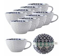 10er SET Maxwell & Williams BI0524 ALHAMBRA Becher Blau Grün, Porzellan