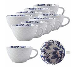 10er SET Maxwell & Williams BI0525 ALHAMBRA Becher Blau, Porzellan