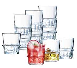 10er SET CreaTable 15451 COCKTAIL IMPERIAL Whiskybecher 38 cl / Luminarc / Whiskyglas / Tumbler