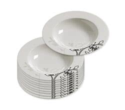 10er SET Suppenteller 22 cm / schwarz - silber /Maxwell & Williams / Bone China / Moon Shadow / Teller für Suppe