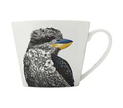 Maxwell & Williams DX0562 MARINI FERLAZZO Becher breit Kookaburra (Eisvogel), Premium-Keramik, in Geschenkbox
