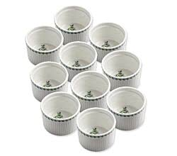10er SET Ofenform ROSMARIN Ø 10,0 cm / Fragrant Garden / Maxwell & Williams / White Basics / Backofenform / Ragoutschälchen