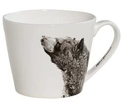 Maxwell & Williams DX0511 MARINI FERLAZZO Becher breit ASIATIC BLACK BEAR, Premium-Keramik, in Geschenkbox