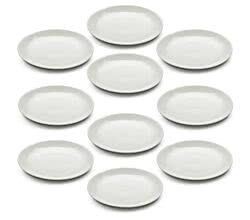 10er SET Teller rund 15 cm White Basics ROUND von Maxwell & Williams