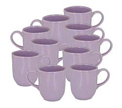 10er SET CreaTable 22126 PINK LADY Kaffeebecher 40 cl, flieder / Steingut / Becher