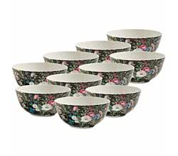 10er SET Schale 16 cm MIDNIGHT BLOSSOM von Maxwell & Williams KILBURN / Obstschale / Dessertschale