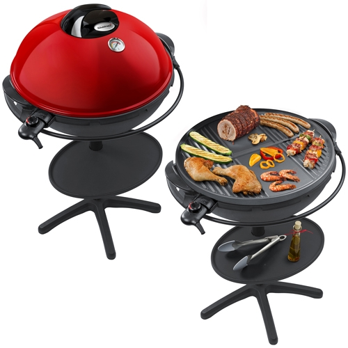 barbecue piliers barbecue avec vent capot vg 400 noir rouge steba grill ebay. Black Bedroom Furniture Sets. Home Design Ideas