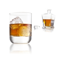 Whiskyglas 260 ml im 2er SET / VacuVin / Whiskey Gläser / Whiskygläser