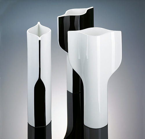vase pure 31 cm schwarz wei ritzenhoff ebay. Black Bedroom Furniture Sets. Home Design Ideas
